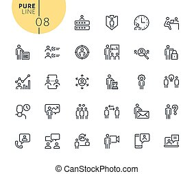 Set of business management icons