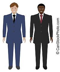 Set of Business Men