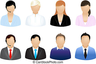 Business People Icons - Set Of Business People Icons, ...