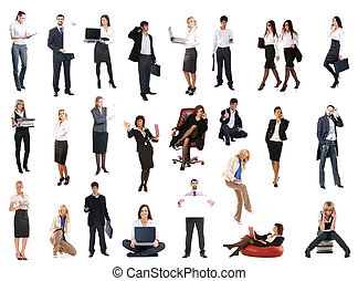 Set of business people