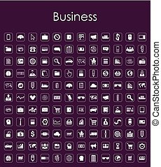 Set of business simple icons