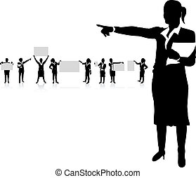 business woman boards - set of business woman boards