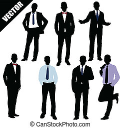Set of businessman