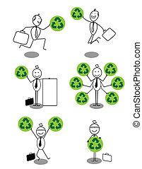 Set of Businessman ecology