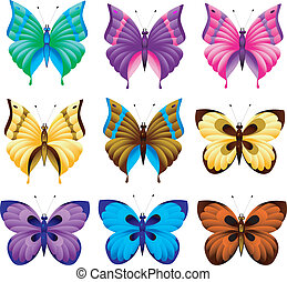 Set of butterfly