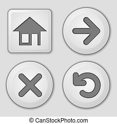 Set of button