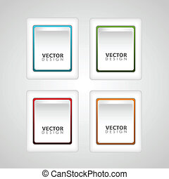 Set of Button Vector