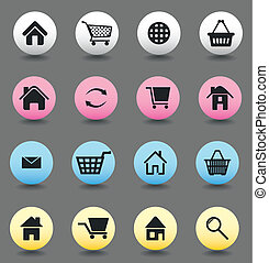 Set of buttons for web design. A vector illustration