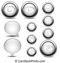 Set of buttons