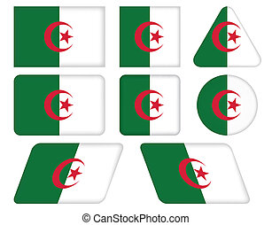 buttons with flag of Algeria