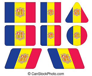 buttons with flag of Andorra