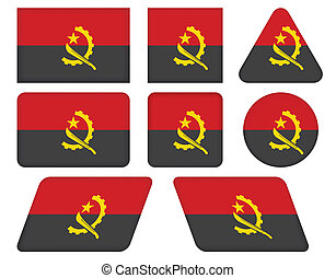 buttons with flag of Angola