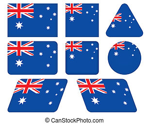 buttons with flag of Australia
