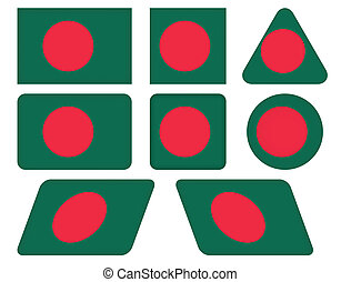 buttons with flag of Bangladesh
