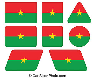 buttons with flag of Burkina Faso