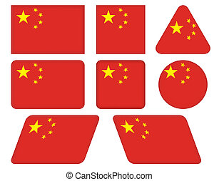 buttons with flag of China