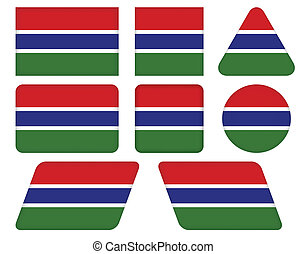 buttons with flag of Gambia