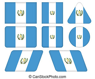 buttons with flag of Guatemala