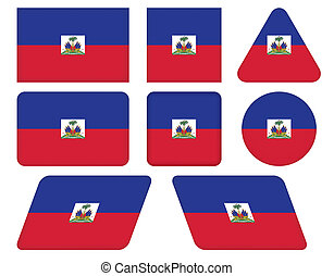 buttons with flag of Haiti