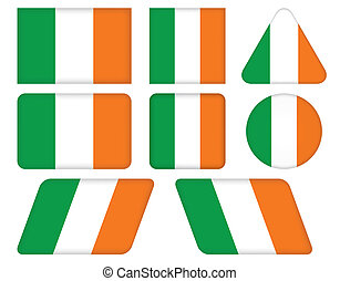 buttons with flag of Ireland