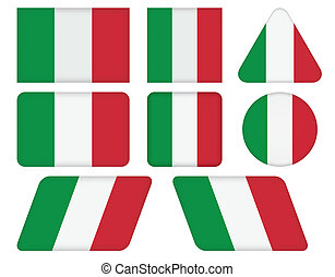 buttons with flag of Italy