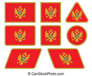 buttons with flag of Montenegro