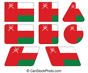 buttons with flag of Oman