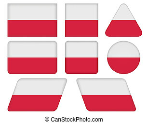 buttons with flag of Poland