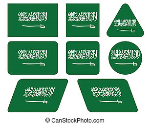 buttons with flag of Saudi Arabia