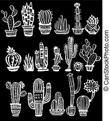 Set of Cactuses