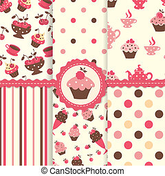 Set of cake patterns