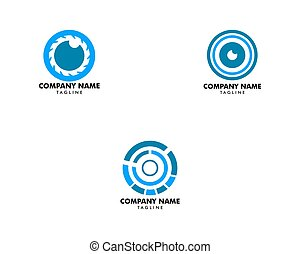 Set of Camera Eye Logo Design Template