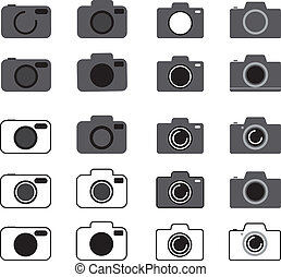 set of camera icon vector illustration