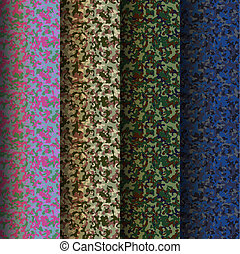 Set of camouflage military backgrounds