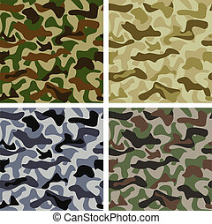 Set of Camouflage Patterns - Camouflage background of...