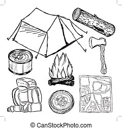 set of camp objects