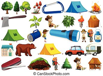 Set of camping element