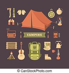 Set of camping
