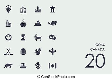 Canada vector set of modern simple icons
