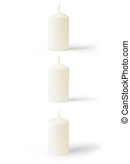 Set of candles isolated on white background