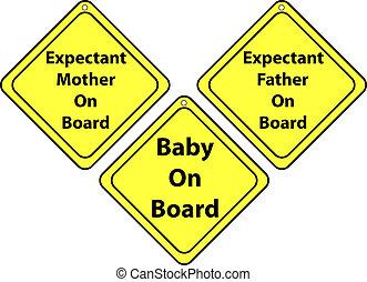 Set of Car Signs