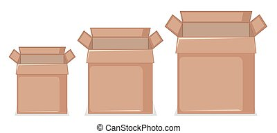 Set of cardboard box