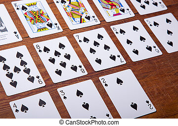 Set of Cards All the Spades