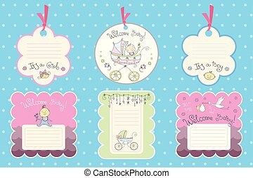 Set of cards for newborn baby.