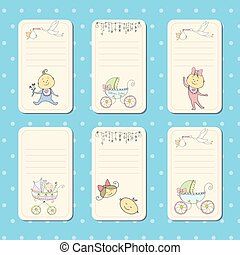 Set of cards for newborn baby