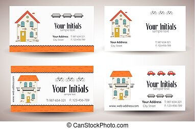 Set of cards. Vector