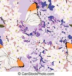 Set of cards with lilac
