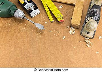 Set of carpenters tools
