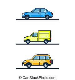 Set of cars