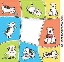 Set of cartoon dogs. Vector